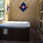 Outdoor spa, nice a private, views over property