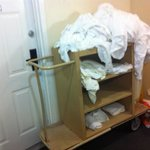 housekeeping cart left in hallway overnight