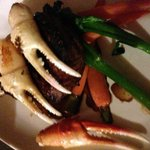 Tenderloin with crab claws