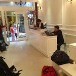 front desk and friendly staff