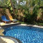 het privezwembad