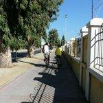 En route à vélo, près de la Marina, Kos