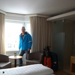 My husband doing a spot of room modelling for me