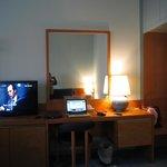 Vanity table/desk/TV console area