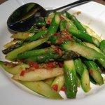 Tumis Aspragus w/ XO sauce