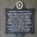 Plaque with history of Main Building and UST