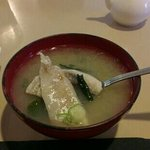 miso soup with fish