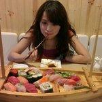 sashimi boat, it's huge!