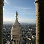 Looking out across Paris from the tower of Sacre Couer