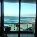 Sand was white.. photo not great. ocean front room.