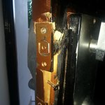 The lock on the door of our room after 2 complains (and repairs) to the recept