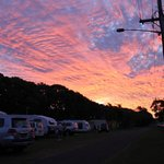 Sunset over Bargara Caravan Park