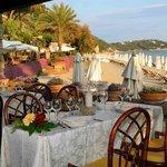 terrazza ristorante sulla spiaggia