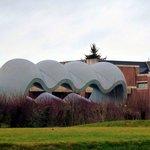 Sculpture de Le Corbusier dans le parc du LaM