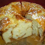 Fresh baked peach coffee cake