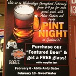 Pint Night Every Wednesday
