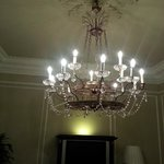 Chandelier in our room!