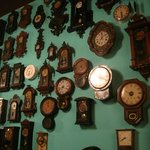 my favorite--antique clock collection