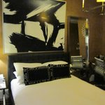 great decor, comfy bed and linens, perfect little room. nice