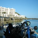 View off the stern at the dive shop