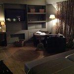 De zithoek van de luxekamer