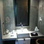 our bathroom made of polished concrete