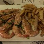the amazing prawns and chips cooked in duck fat mmmmn