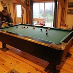 A good game of pool in the rec room is a great way to unwind after supper!