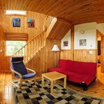 Inside of the Red Chalet