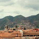 View of Cusco from hotel lobby