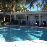 Quiet pool side