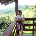The balcony overlooking Paraty Bay and the Mata (jungle)