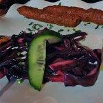 entrée : sheeh d'agneau (genre viande kebab)