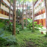 Central courtyard in room blocks