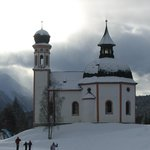 Near the start of the langlauf routes in Seefeld centre