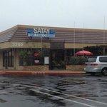 Restaurant on a rainy afternoon.