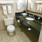 Large bathroom vanity & sink area
