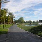 Walking paths along the golf course
