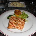 Delicious salmon dinner at Pinzimini