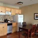 Kitchen area in the suite