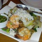 Cellophane noodles w/ shrimp & flaked crabmeat