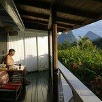 Enjoying peace on veranda