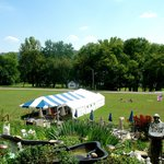Lower Lawn with tent for parties and occasion