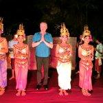 Apsara dancers at La Residence d'Angkor
