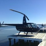 Boarded the helicopter right at our doorstep on lake Rotorura