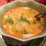 Tom Ka veggie soup. Yum!