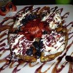 Blueberry-Strawberry waffles!
