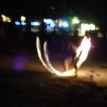 Tuesday night fire dancer.
