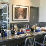 Table set up for olive oil tasting