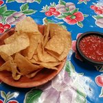 Delicious chips and salsa